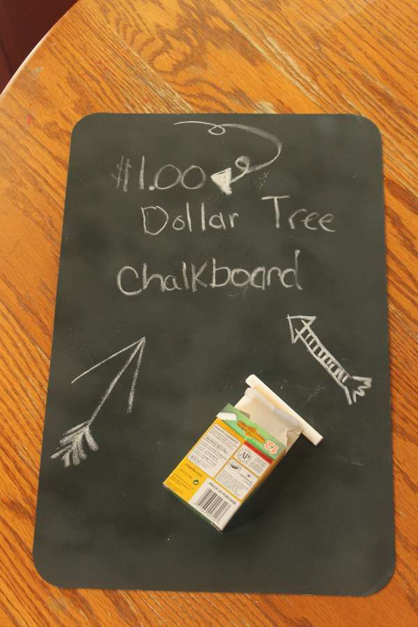 Dollar Craft for Kids - Chalkboard Placemat