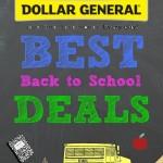 Dollar General Best Back to School Deals