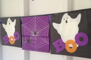 Dollar Store DIY: Boo-tiful Bunting Banner