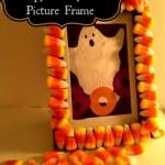 Dollar Store DIY Creepy Candy Corn Frame
