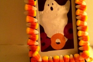 Dollar Store DIY: Creepy Candy Corn Frame