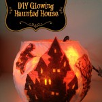 Dollar Store DIY Glowing Haunted House