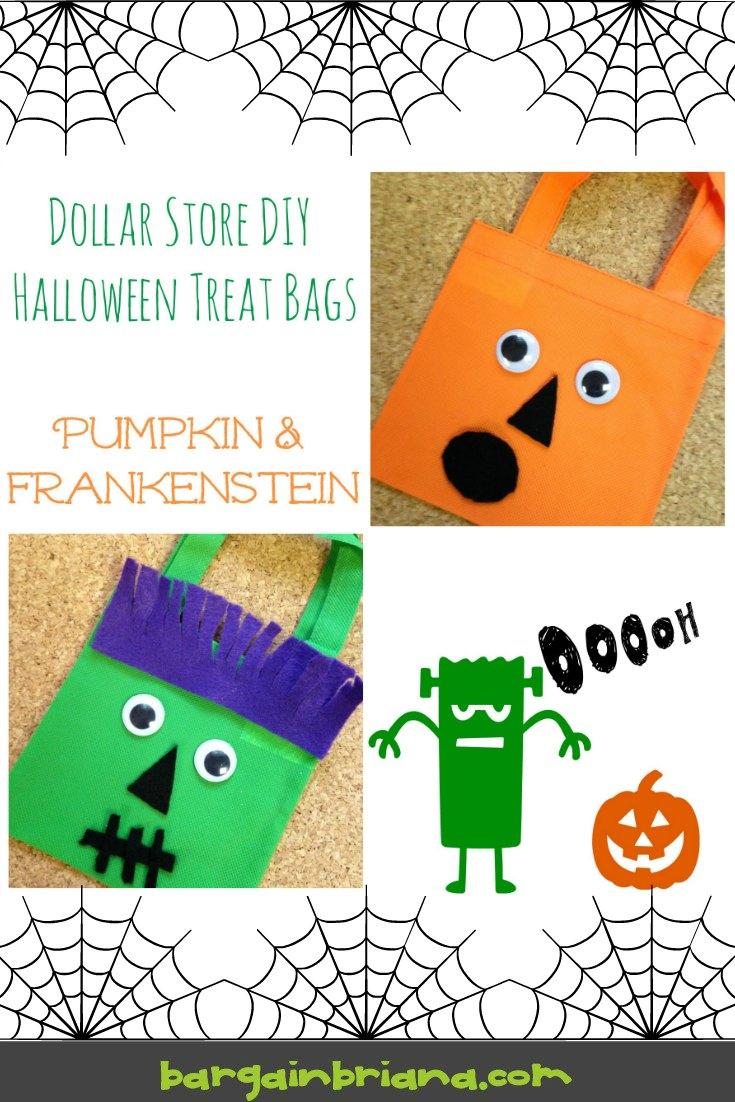 Dollar Store DIY Halloween Treat Bags Tutorial