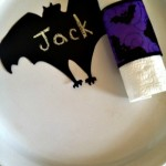 Dollar Store DIY Spooky Supper Napkin Rings and Place Setting