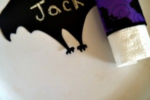 Dollar Store DIY: Spooky Supper Napkin Rings and Place Setting