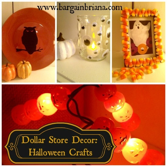 Dollar Store Decor Halloween Crafts BargainBriana