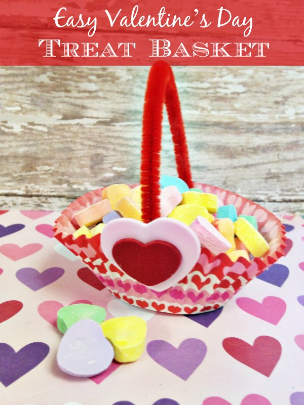 Dollar Store Diy Valentines Day Treat Basket