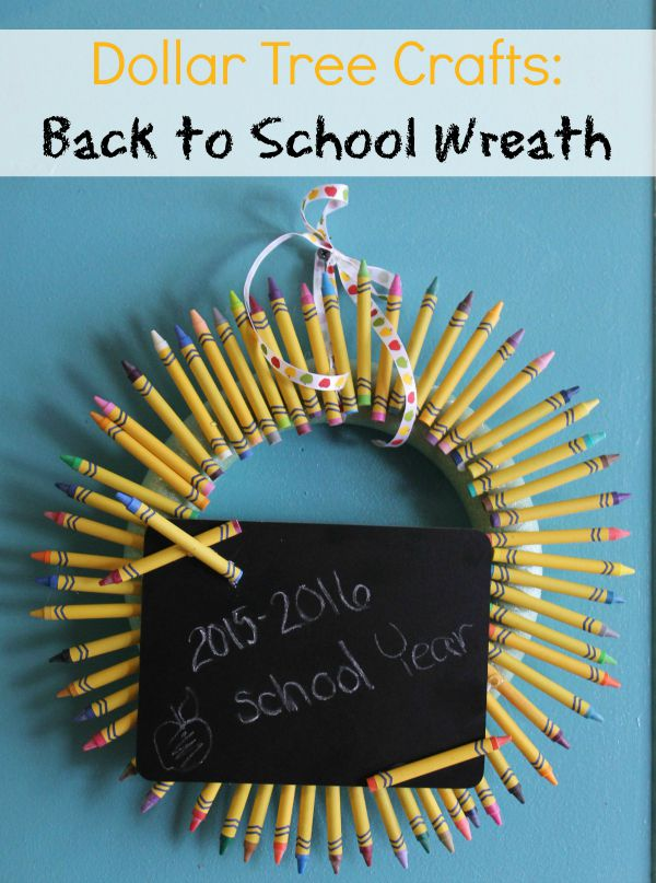 Dollar Tree Crafts - Back to School Wreath