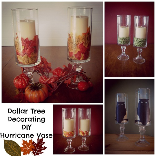 Dollar Tree Decorating DIY Hurricane Vase
