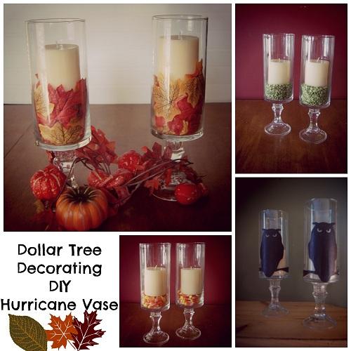 Dollar Tree Decorating DIY Hurricane Vase