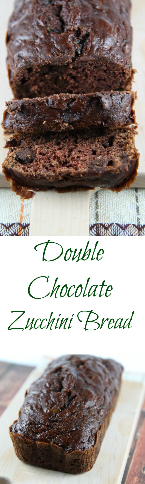 Double Chocolate Zucchini Bread with Chocolate Chips