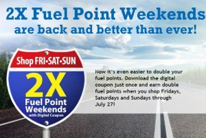 Double Fuel Rewards at Kroger
