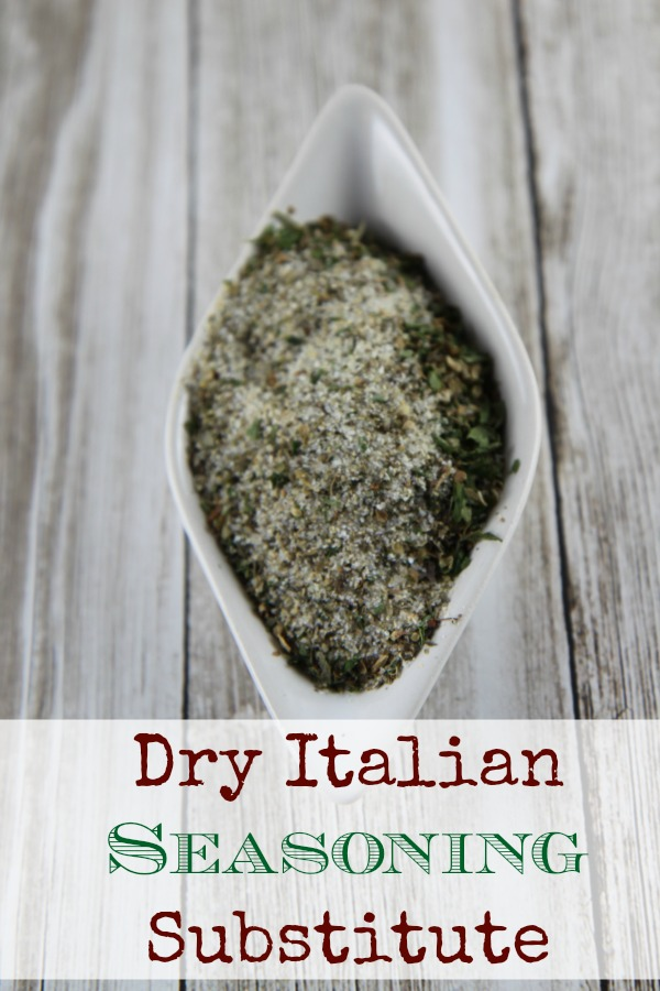 Dry Italian Seasoning Substitute