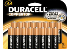 Staples: Free Duracell AA or AAA Batteries (16 pk) After Staples Rewards