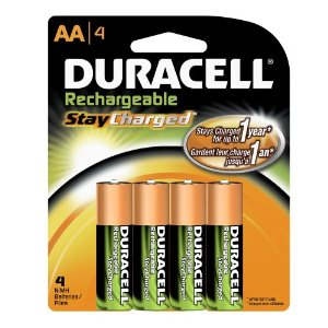 Amazon: Duracell Rechargeable StayCharged, AA Batteries (4-count)- $7.49
