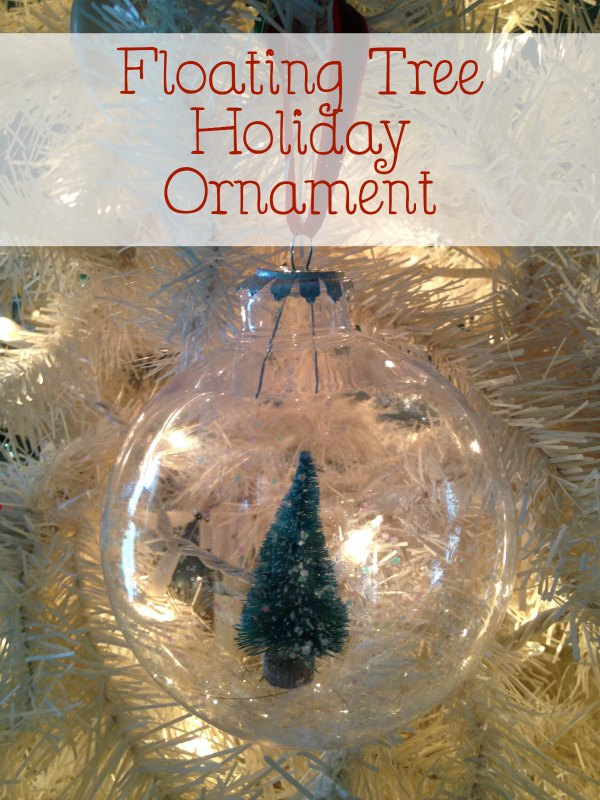 Easy Christmas Ornament to Make With Kids - Floating Tree Holiday Ornament