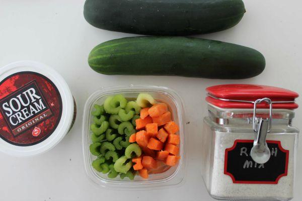 Easy Cucumber Bites Appetizer Ingredients
