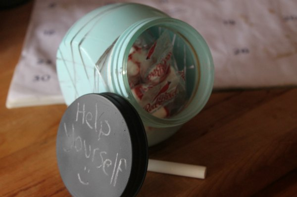 Easy Dollar Store Candy Jar DIY