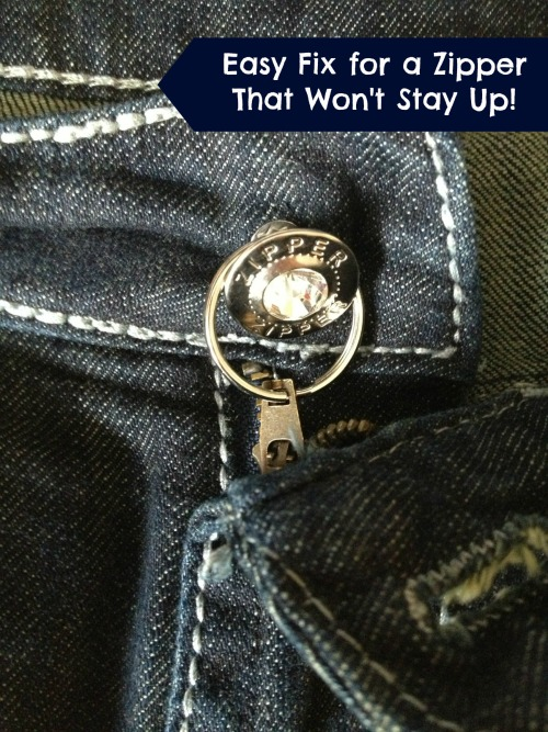 Easy Fix for a Zipper That Wont Stay up Easy Fix for a Zipper That Wont Stay Up