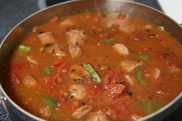 Easy Jambalaya Recipe in Process Photo