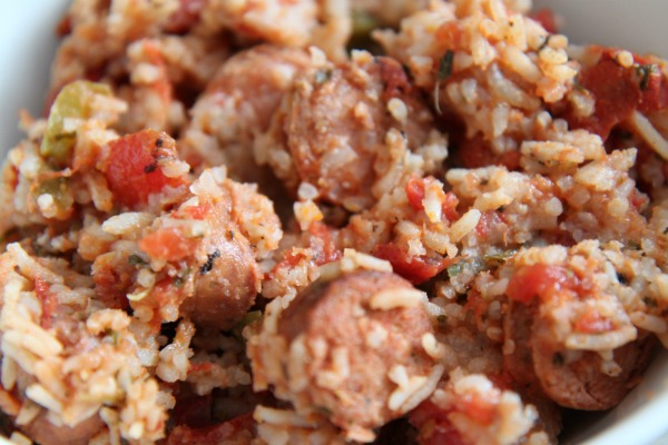 Easy Jambalaya Recipe made with Aidells