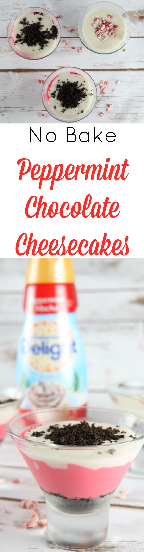 Easy Peppermint Chocolate Cheesecakes