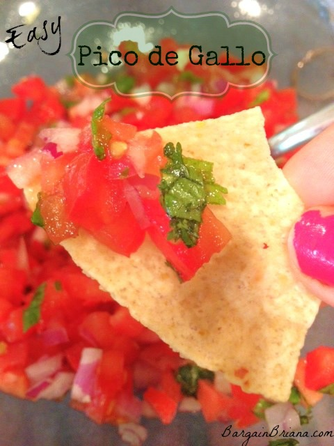 Easy Pico de Gallo Recipe via @BargainBriana