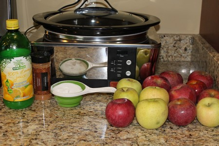 Easy Slow Cooker Applesauce Recipe Ingredients
