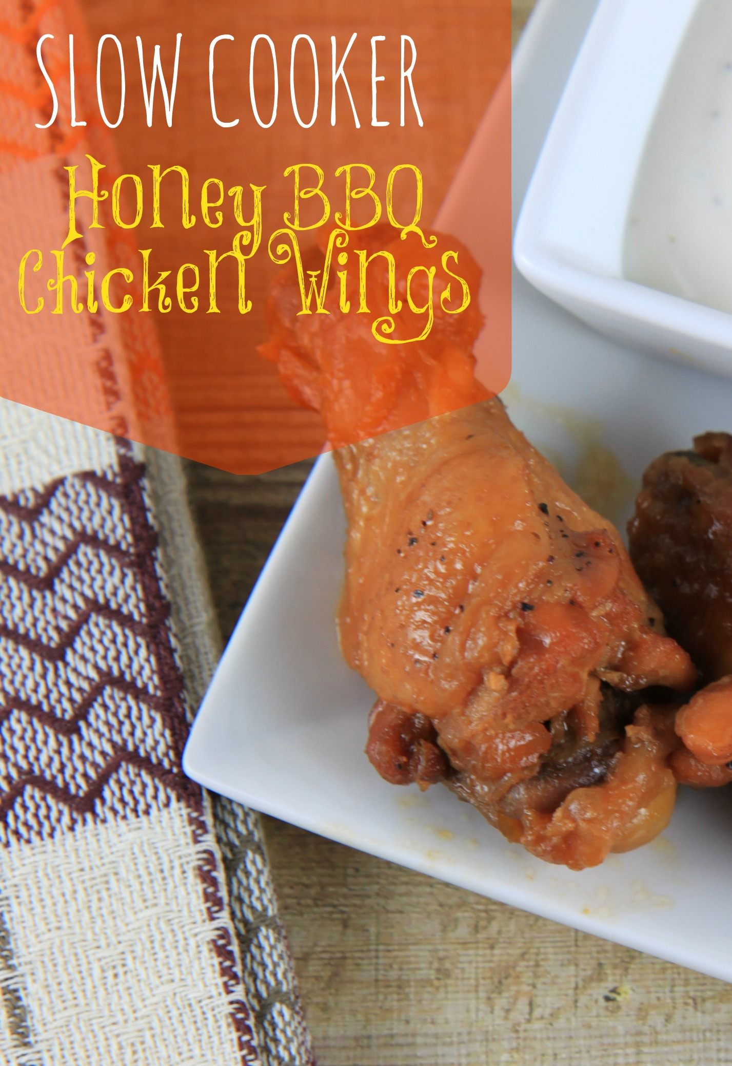 Easy Slow Cooker Honey BBQ Chicken Wings