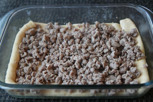 Easy Turkey Sausage Breakfast Casserole Step 1