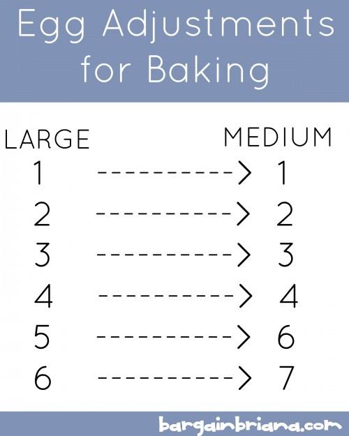 Egg Adjustments for Baking