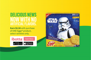Earn $0.50 Cash Back on Kellogg's® Eggo® Star Wars Galaxy Adventure™ Buttermilk Pancakes at Walmart