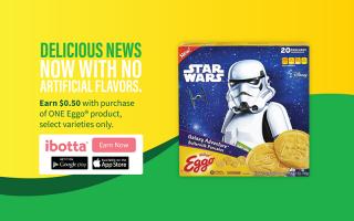 Earn $0.50 Cash Back on Kellogg's® Eggo® Star Wars Galaxy Adventure™ Buttermilk Pancakes at Walmart