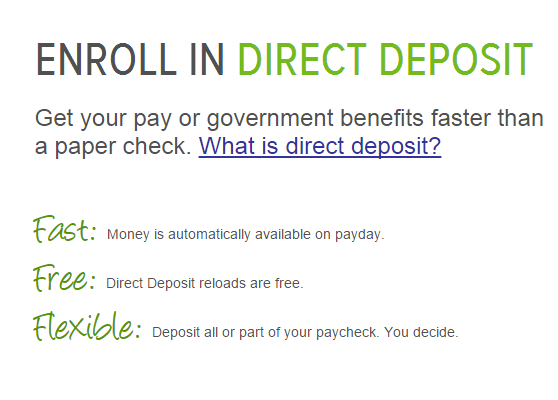 Enroll in Direct Deposit