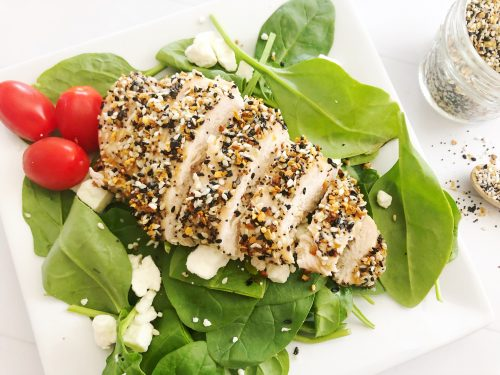 Everything Bagel Chicken Salad - Low Carb friendly salad.