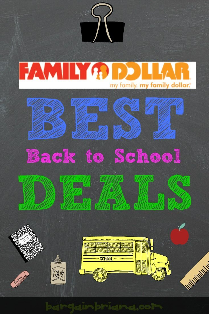 Family Dollar Best Back to School Deals