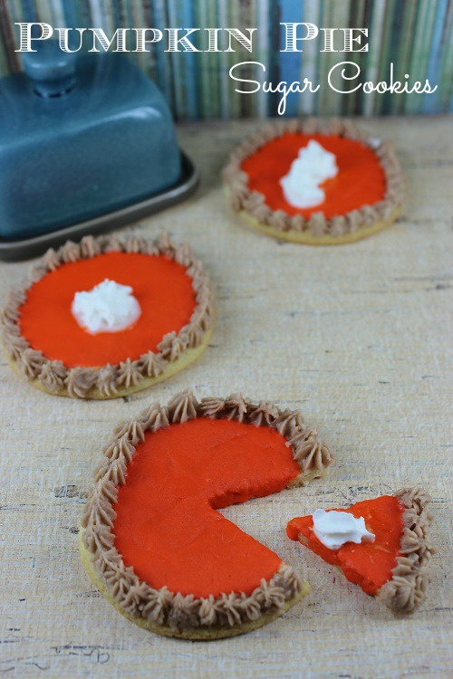 Faux Pumpkin Pie Sugar Cookie Recipe