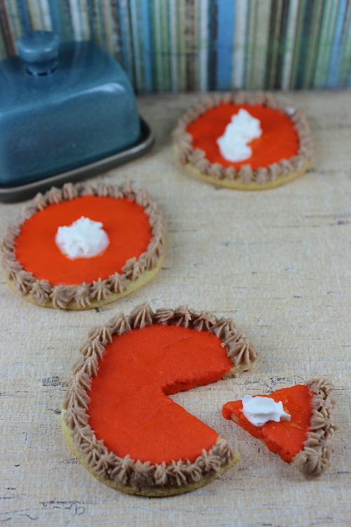 Faux Pumpkin Pie Sugar Cookies