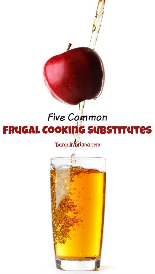 Five Common Frugal Cooking Substitutes