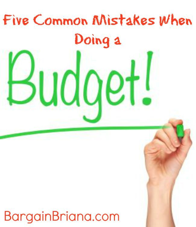 Five Common Mistakes When Doing a Family Budget