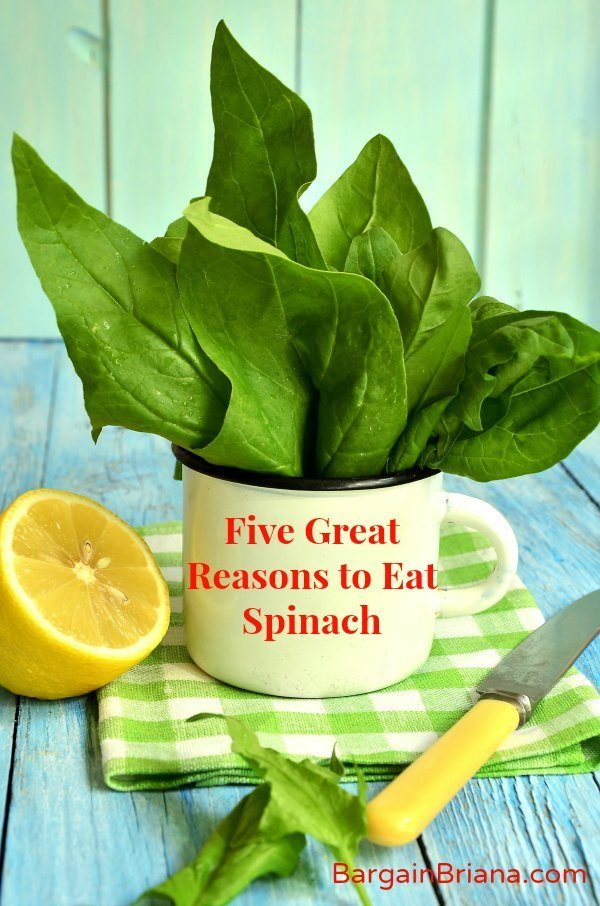 Five Great Reasons to Eat Spinach