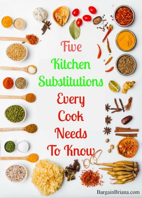 Five Kitchen Substitutions Every Cook Needs To Know