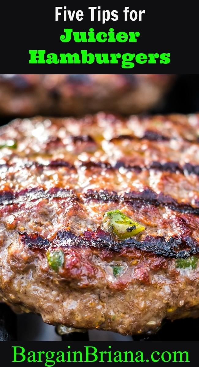 Five Tips for Juicier Hamburgers
