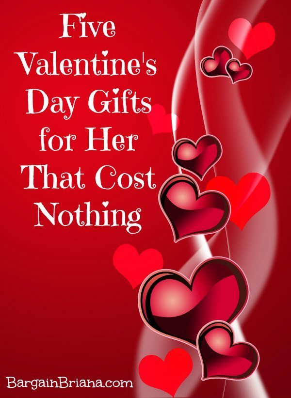five valentine's day gifts for her that cost nothing - bargainbriana, Ideas