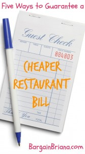 Five Ways to Guarantee a Cheaper Restaurant Bill