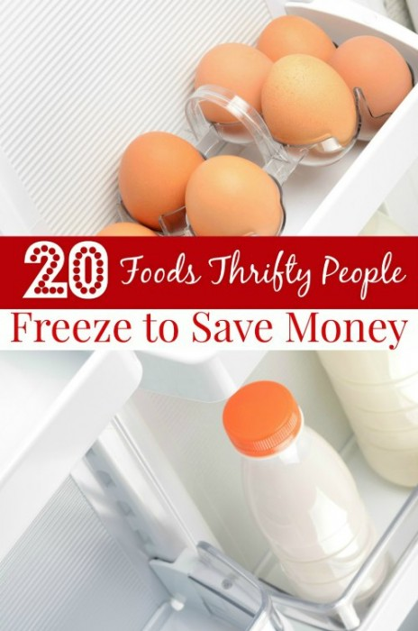 20 Foods Thrifty People Freeze to Save Money