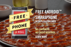 Free Android Smartphone with Donatos Pizza Purchase