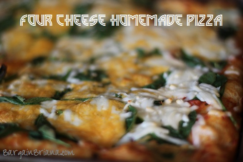 Four Cheese Spinach Pizza Recipe