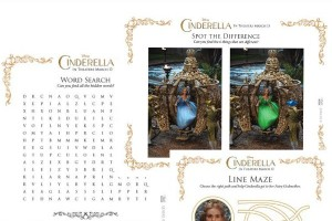 Free Disney's Cinderella Printable Activity Sheets