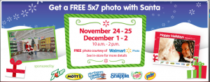 Free Photo with Santa at Walmart 300x117 Free Photo with Santa at Walmart 12 1 & 12 2